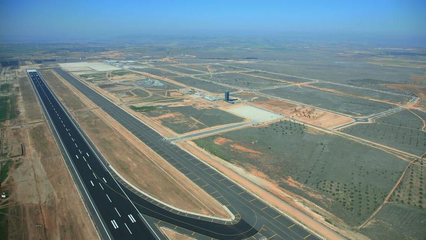 Vista aérea del aeropuerto de Ciudad Real