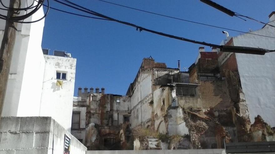 Casas, medievales, Badajoz, derrumbe