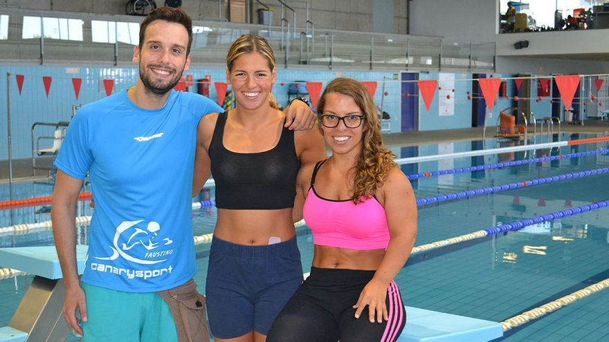 Faustino Afonso, Michelle Alonso y Judit Rolo.