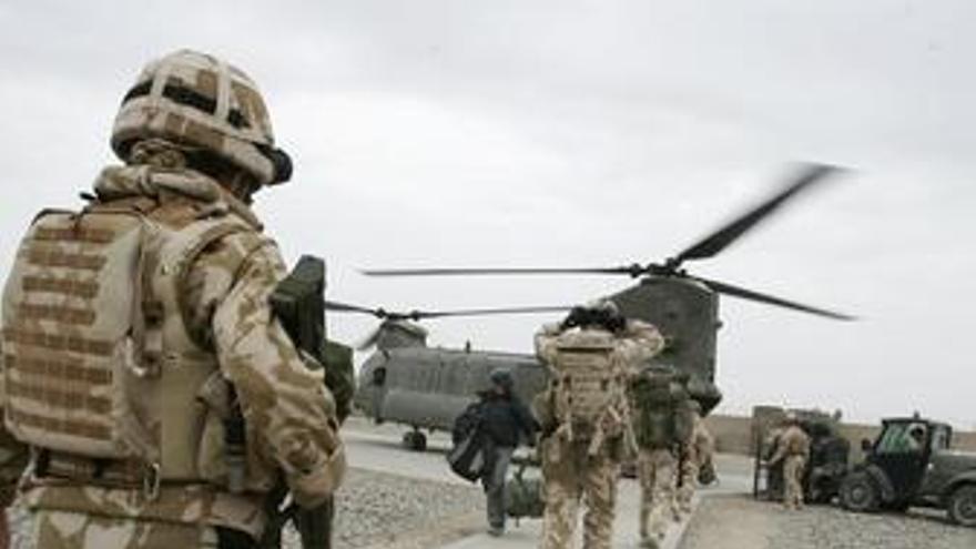 Soldados británicos en Afganistán