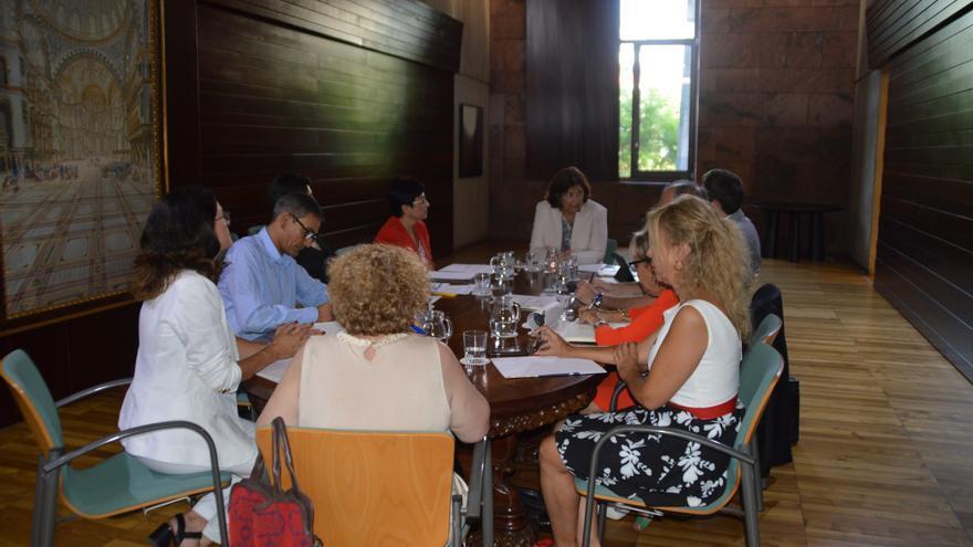 El equipo de la Consejería de Educación de Canarias tras tomar posesión todos sus miembros.