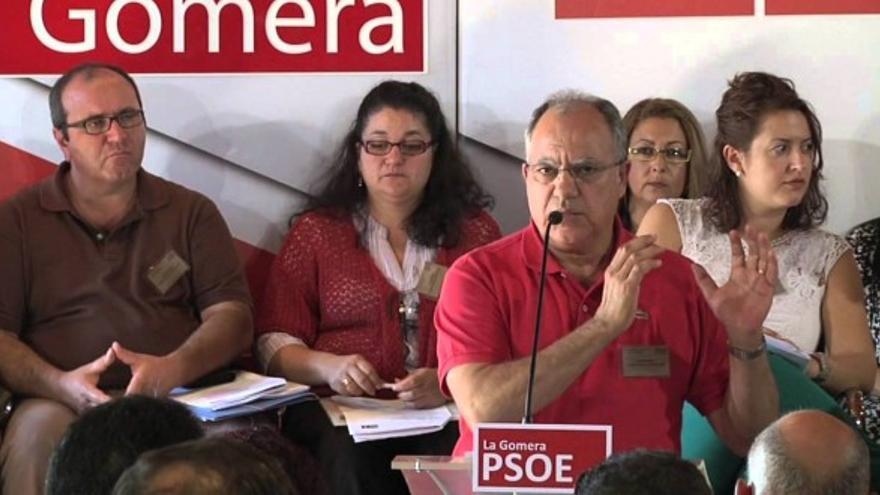 Casimiro Curbelo durante el último congreso insular del PSOE