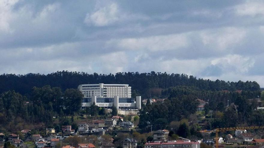 Vista del hospital de Montecelo, en Pontevedra