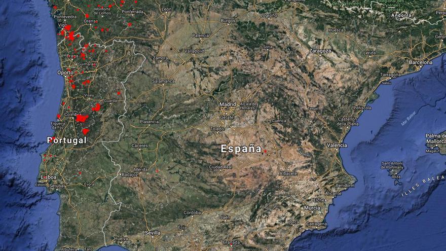 Datos Via Satelite Muestran Centenares De Incendios En El Oeste De