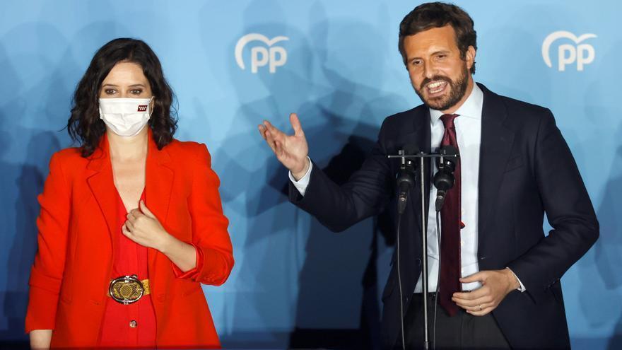 Casado y Ayuso analizan la victoria en Madrid en un Comité Ejecutivo Nacional