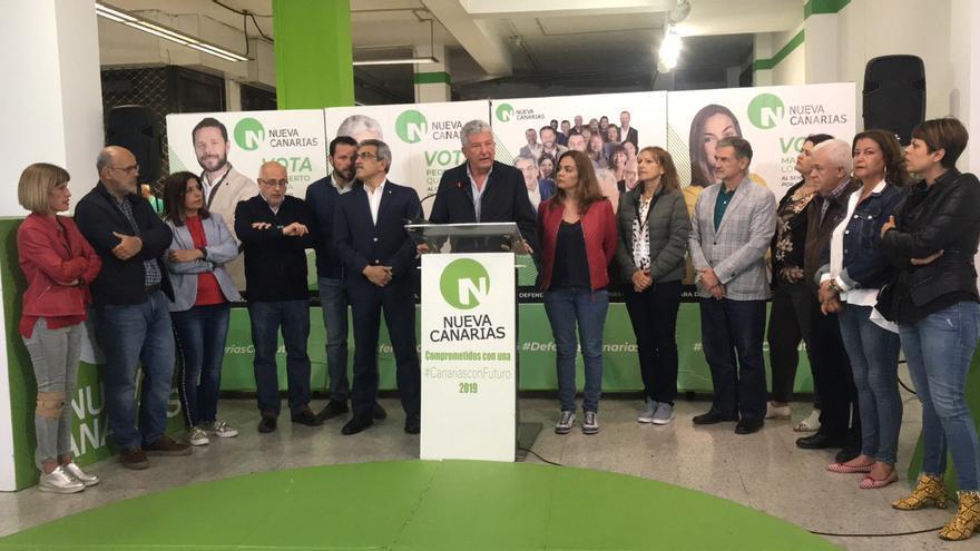 Pedro Quevedo, cabeza de lista de Nueva Canarias al Congreso de los Diputados, tras conocer los resultados del 28A.