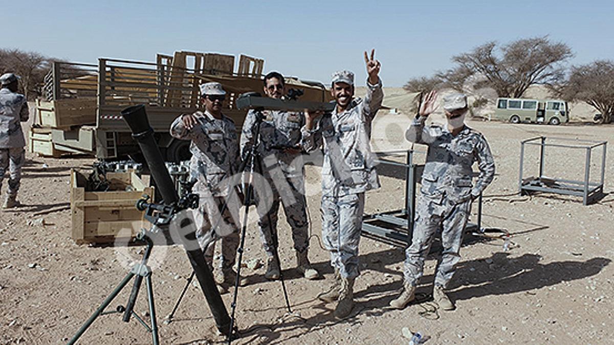 Miembros de la Guardia Fronteriza de Arabia Saudí, durante un entrenamiento realizado por la consultora Everis.