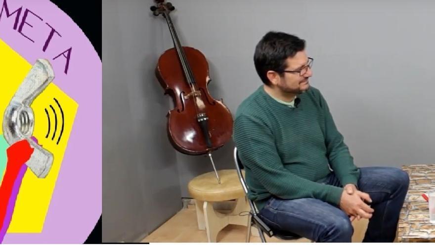 El logo de La Palometa, a la izquierda. A la derecha, Ignacio Blanco y Roberto Jaramillo, durante la primera entrevista.