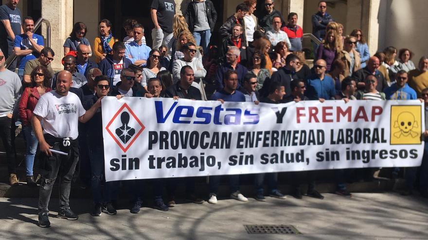 Ex trabajadores de Vestas Daimiel