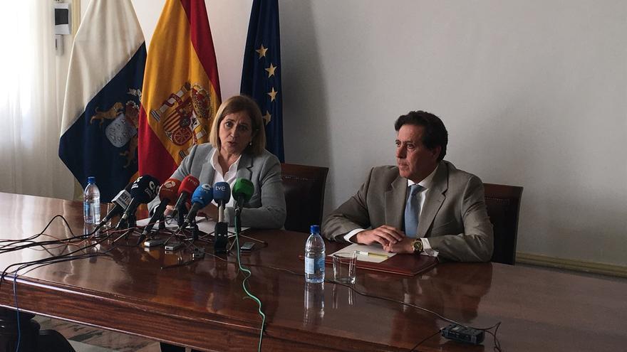 La delegada del Gobierno, Mercedes Roldós, durante la rueda de prensa.