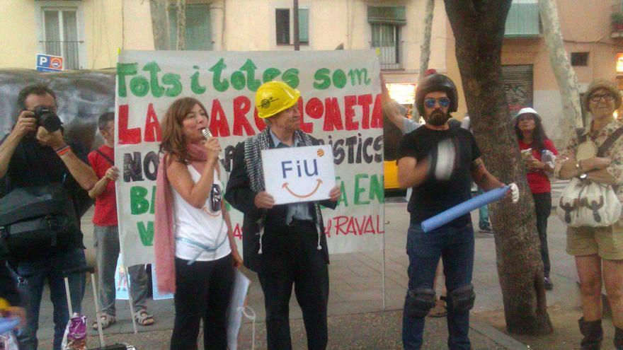 Manifestació al Raval contra la massificació turística al centre de Barcelona. / Jordi Molina.