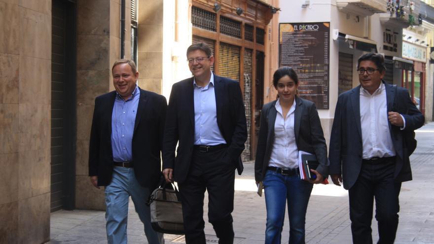 José Manuel Orengo, Ximo Puig, Lidia del Canto y Alfred Boix, del PSPV.