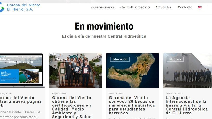Nueva web Gorona del Viento