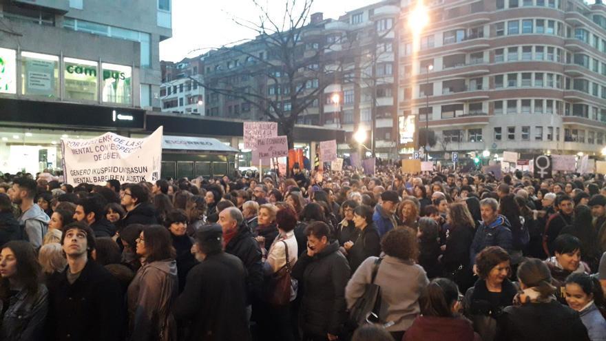 Marcha en Vitoria
