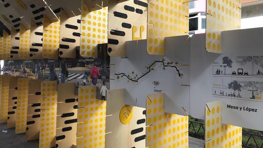 Las Palmas de Gran Canaria exhibe en la calle el futuro peatonal de la avenida Mesa y López.