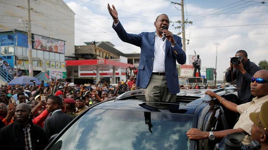 Kenyatta fue declarado presidente de Kenia sin el recuento de 10.000 colegios electorales