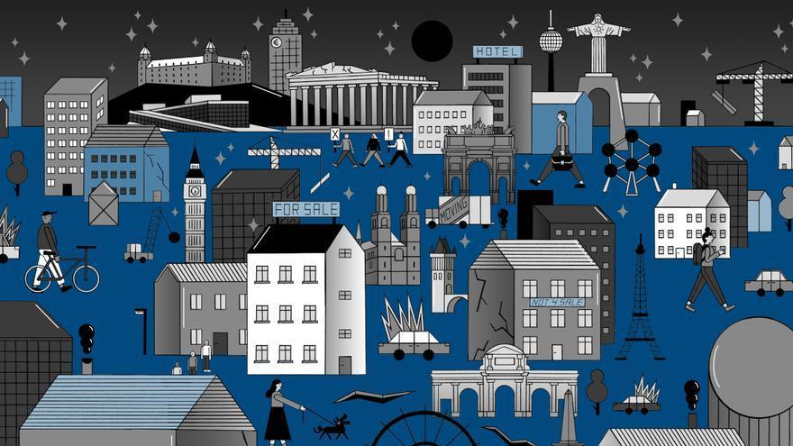 Los fondos de inversión y las corporaciones inmobiliarias han aumentado la cantidad de viviendas que poseen en las ciudades europeas / Moritz Wienert for Cities for Rent