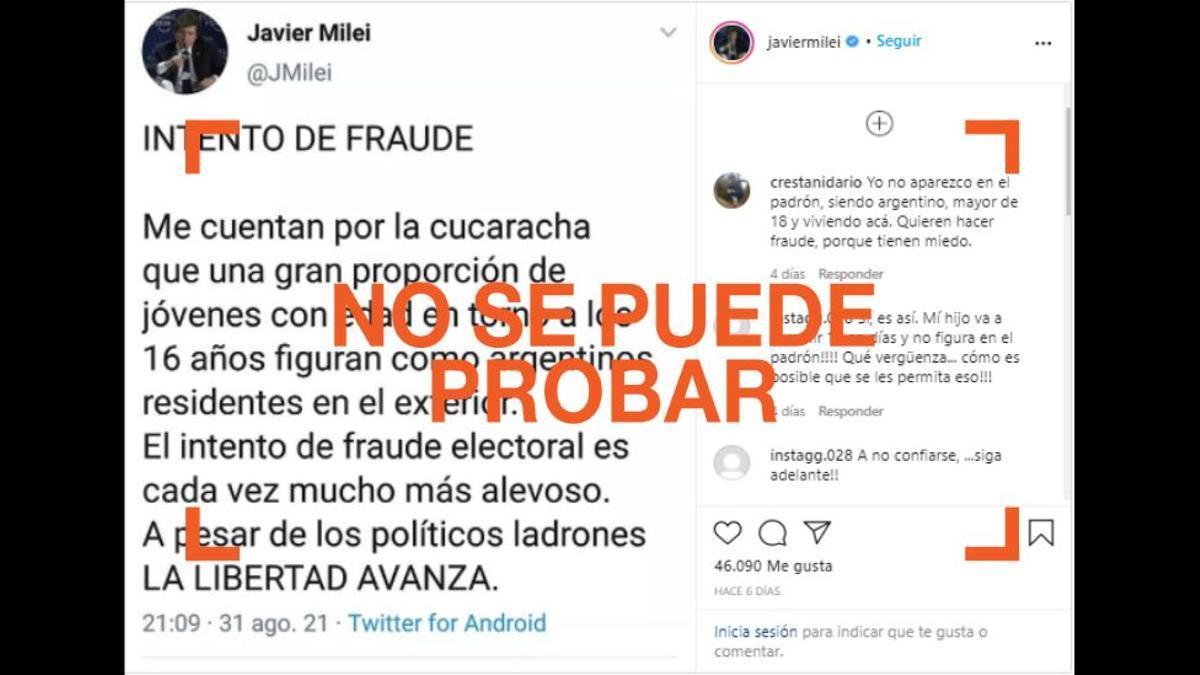 Por qué no tiene sustento la denuncia de presunto fraude de Javier Milei