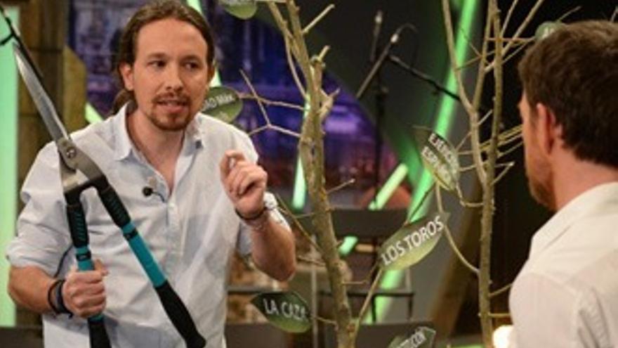 """La rama que no """"podó"""" Pablo Iglesias y que nadie aplaudió en 'El Hormiguero'"""