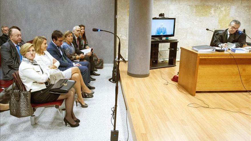 Sala de vistas donde se celebra el juicio por la demanda de Cospedal contra Bárcenas / EFE