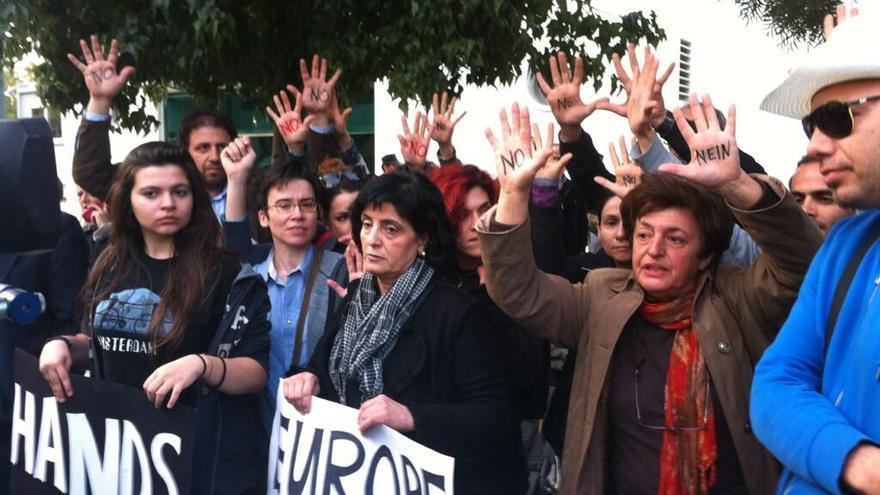 Protestas contra el rescate en Chipre  / Foto de Susanah Tresilian en Twitter (@stresilian)