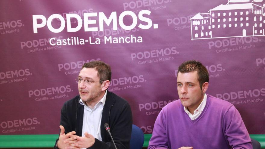 Diego Gallardo y Francis Gil, de Podemos, anunciaron esta semana la posible ruptura con PSOE en Illescas