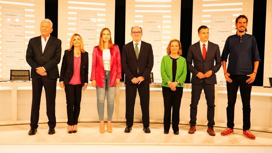 Candidatos y candidatas al Congreso por la provincia de Santa Cruz de Tenerife en el debate de RTVC