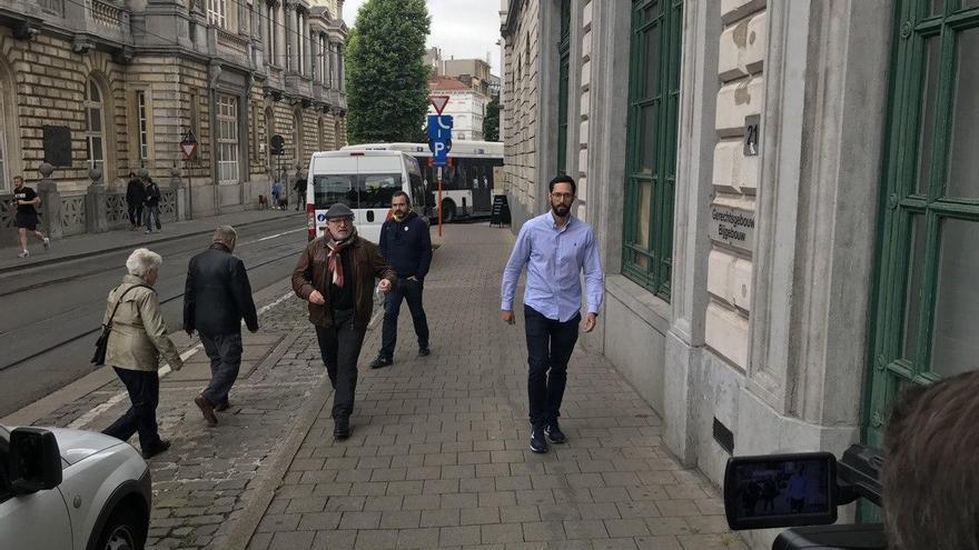 Valtònyc, a su llegada al juzgado de Gante, el 9 de junio de 2020.