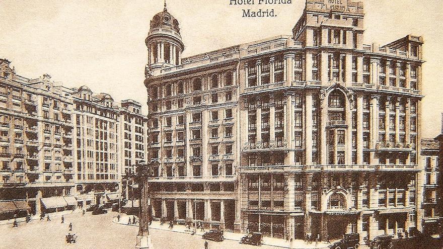 El Hotel Florida de Madrid en los años 30