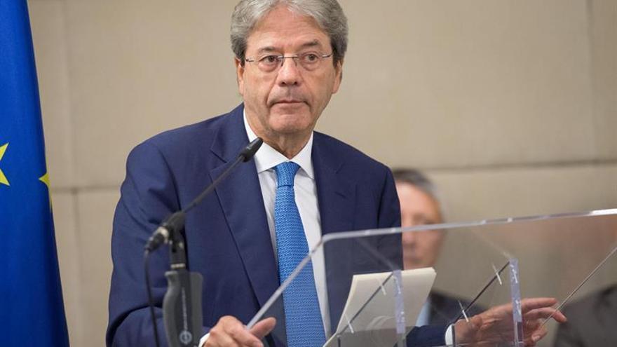 Gentiloni dice sobre Cataluña que Italia respeta la legislación española