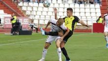 Mazáň, en un partido frente al Albacete