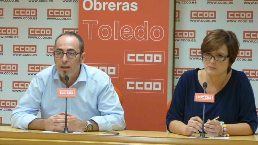 Paco de la Rosa y Carolina Vidal / CCOO CLM