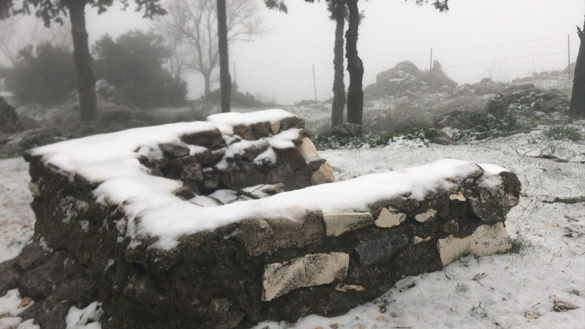 Nieve en el Picacho de Cabra