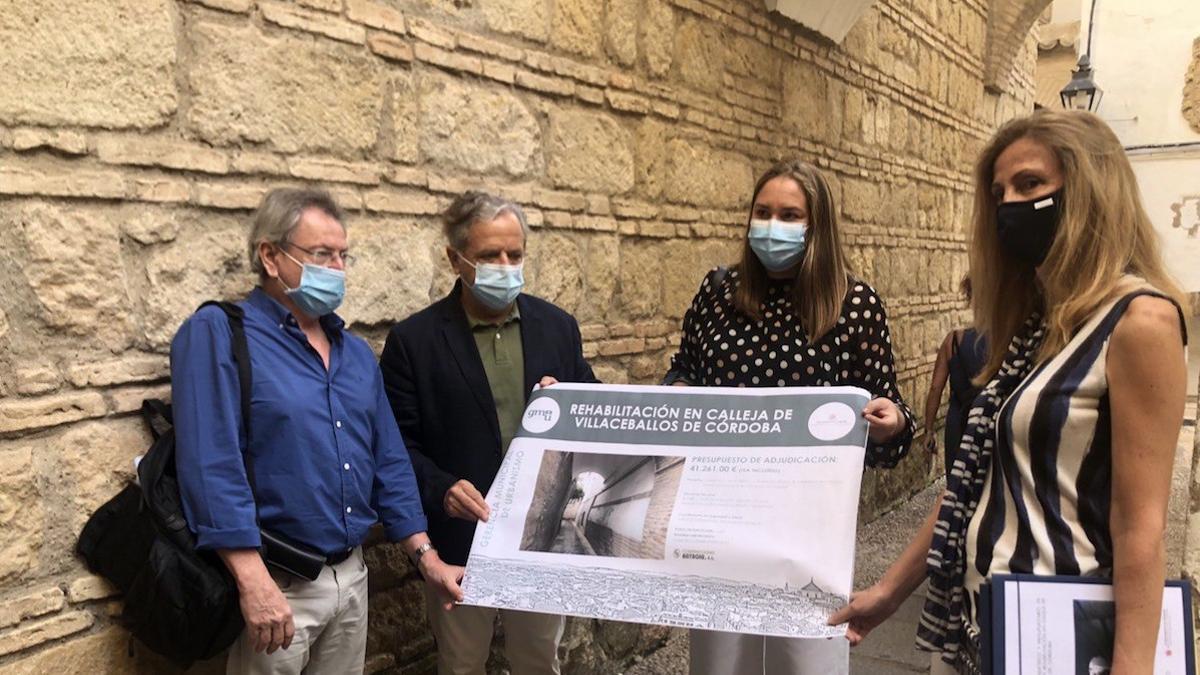 Presentación de los trabajos de rehabilitación en la calleja de la Luna