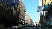 Gran Vía, en las primeras horas de implantación de Madrid Central. / S.P
