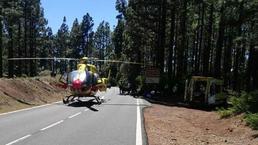 Accidente de moto en el municipio de Arafo.