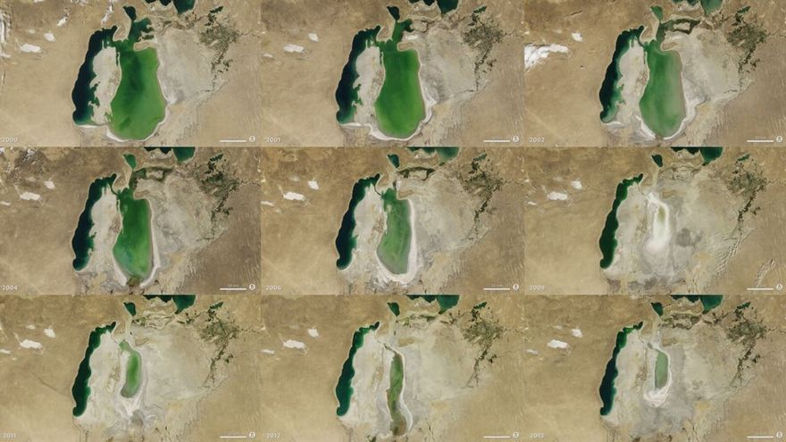 La sobreexplotación de los recursos hídricos unida a los efectos del cambio climático han hecho desaparecer varios lagos y mares interiores en todos los continentes. El Mar de Aral es, posiblemente, el mejor documentado. Tan grave fue su sobrexplotación unida a la aridificación del clima que llegó prácticamente a desaparecer. En la actualidad se está recuperando mediante costosos programas internacionales, aunque lo hace muy lentamente y existen muy serias dudas sobre su sostenibilidad a largo plazo.
