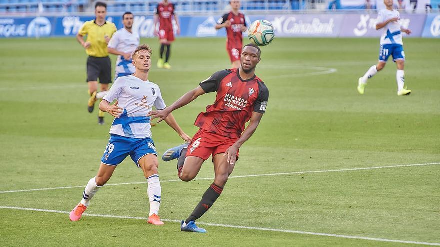Dani Gómez, en el partido frente al Mirandés