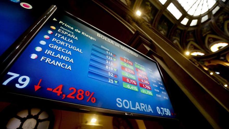La prima de riesgo de España abre sin cambios, en 107 puntos