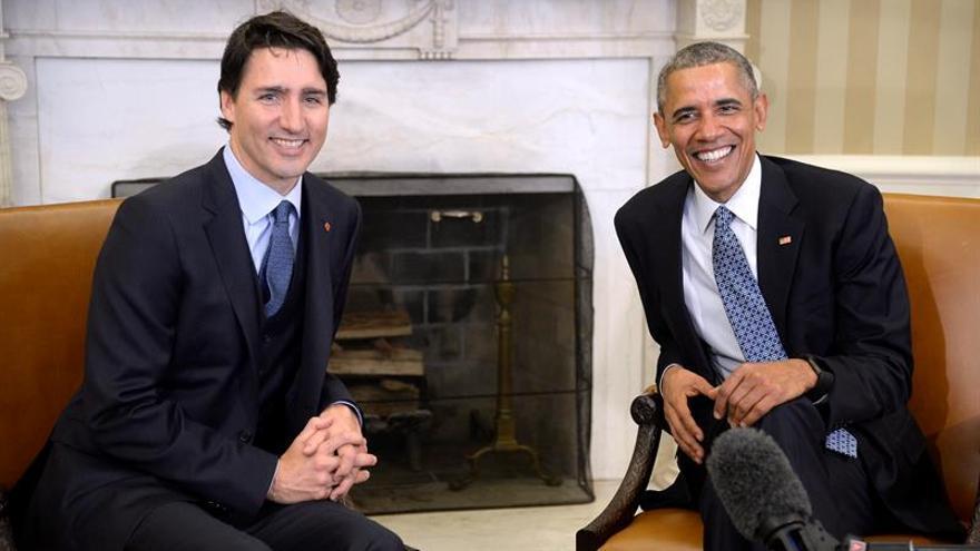 """Obama destaca los """"valores"""" compartidos al recibir a Trudeau en la Casa Blanca"""