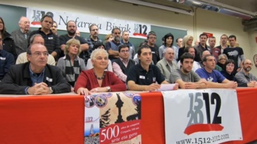 Miembros De La Iniciativa '1512-2012 Nafarroa Bizirik'.