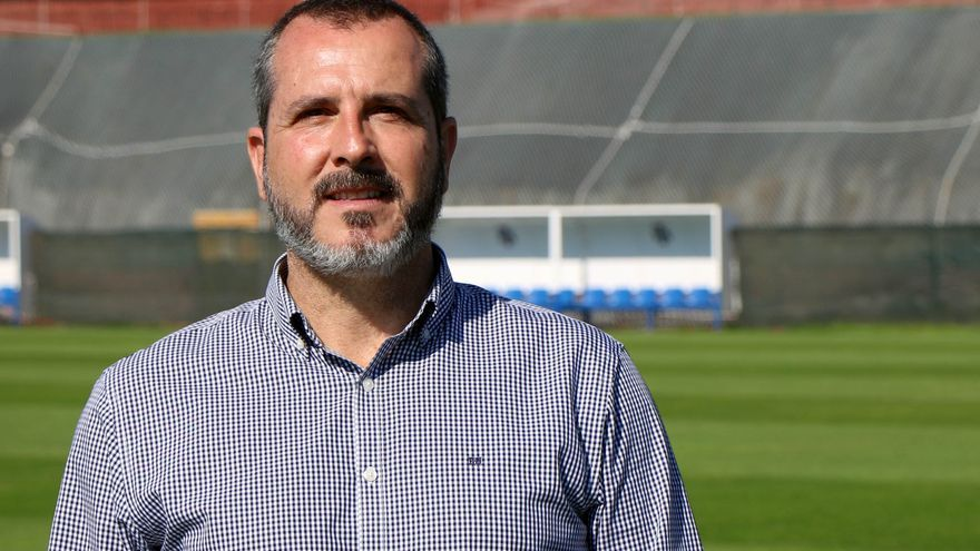 Sesé Rivero, en la Ciudad Deportiva Javier Pérez