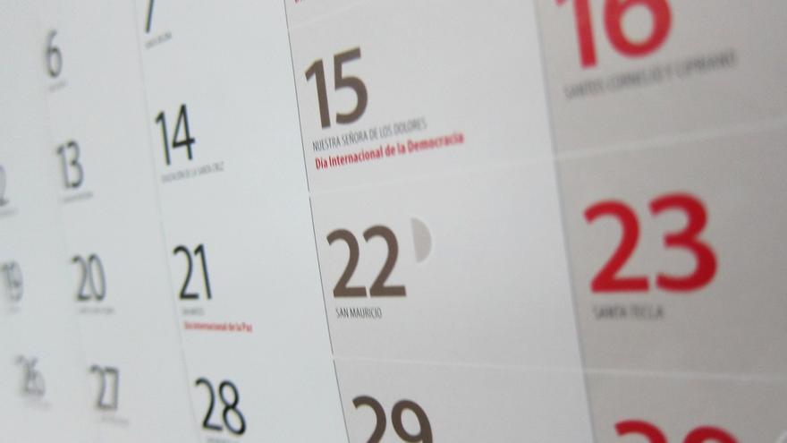 El calendario laboral para 2018 recoge diez festivos comunes en toda España