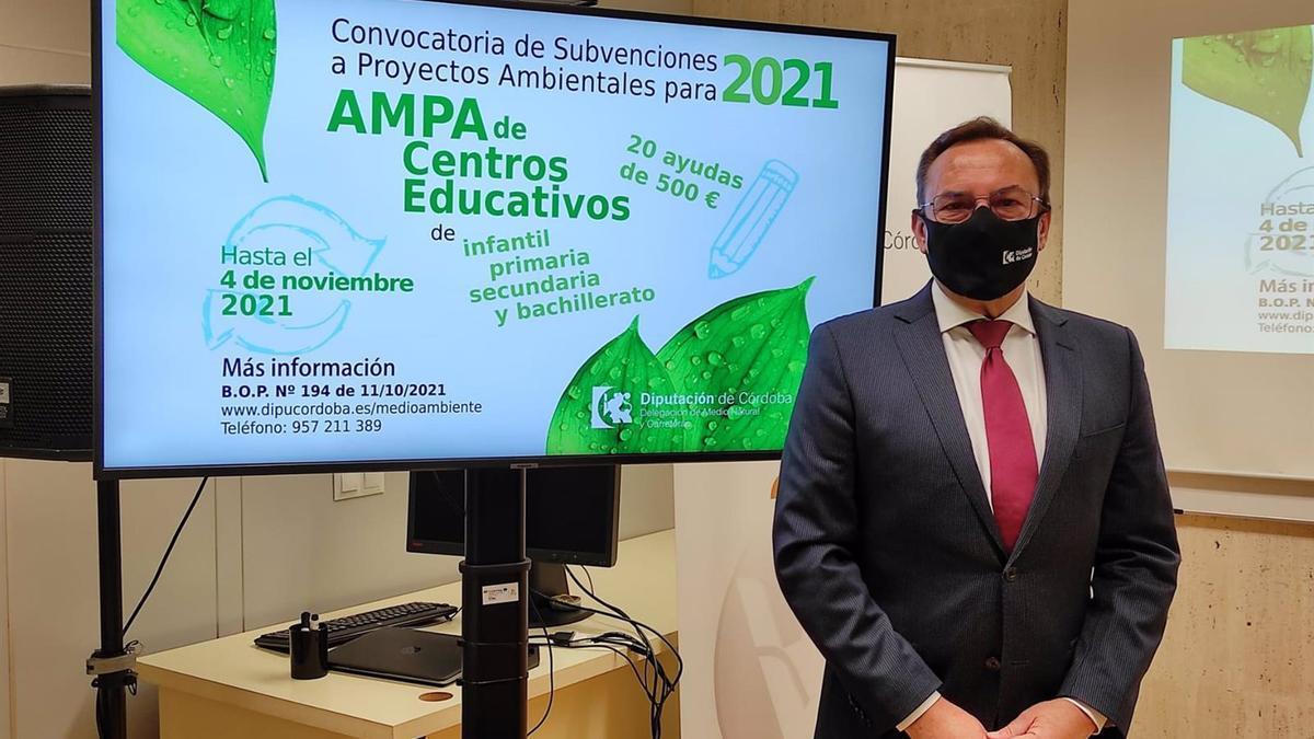 El delegado de Medio Natural y Carreteras de la Diputación de Córdoba, Francisco Palomares.