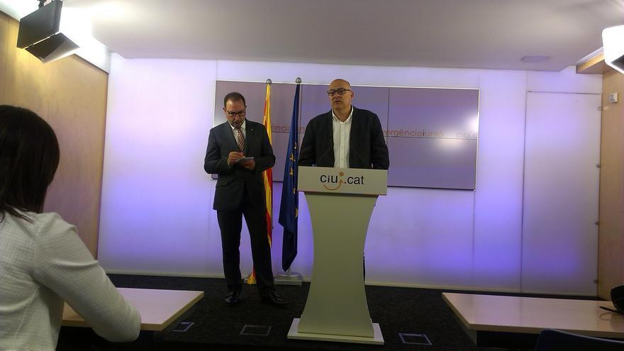 Espadaler y Corominas, en rueda de prensa tras los resultados del 24M / JORDI MOLINA