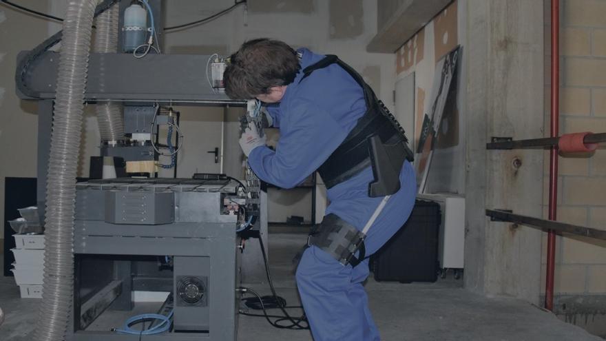 Exoequeleto diseñado por la empresa vizcaína Cyber Human Systems.