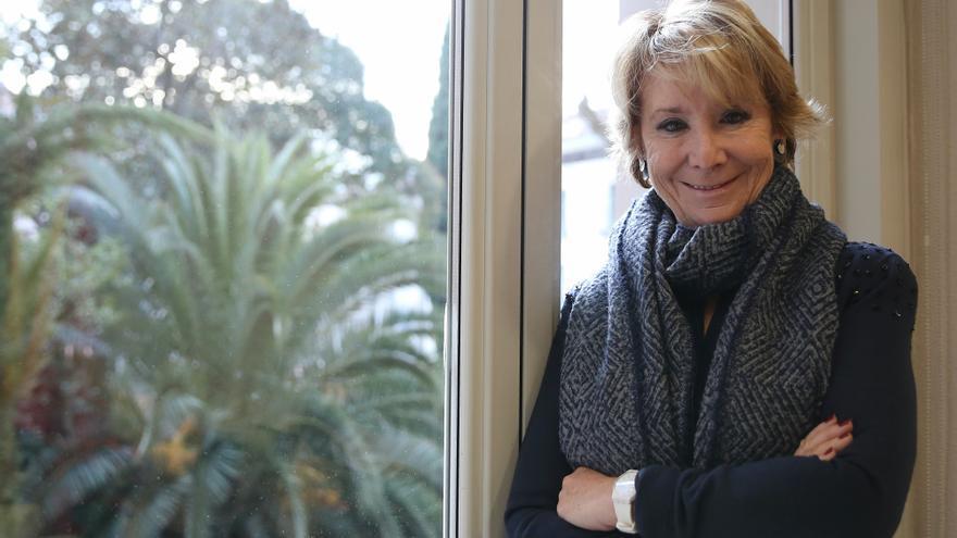 La portavoz municipal del PP en Madrid, Esperanza Aguirre.