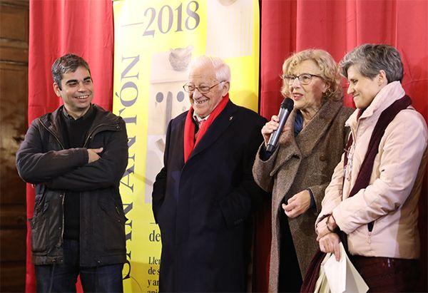 Manuela Carmena en el pregón de las Fiestas de San Antón 2018   Fotografía: Ayuntamiento de Madrid
