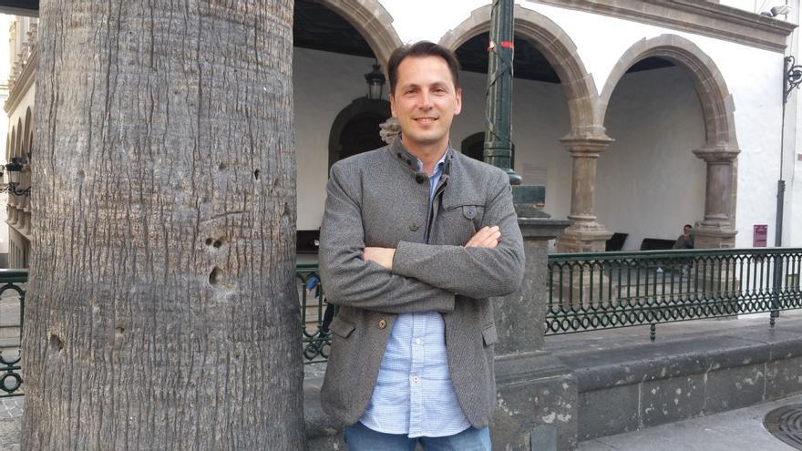Santiago Gutiérrez ha visitado La Palma recientemente.
