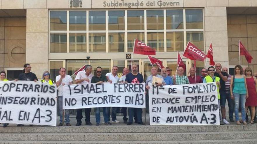 CCOO ya protestó en junio por los recortes en el mantenimiento de la A-3